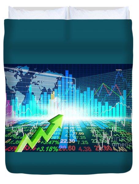 Stock Market Concept Duvet Cover