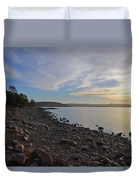Stone Beach Duvet Cover
