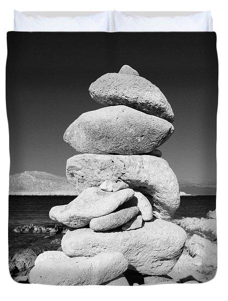 Stone Tower On Halki Island Duvet Cover