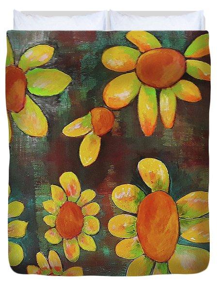 Stoned Flowers Duvet Cover