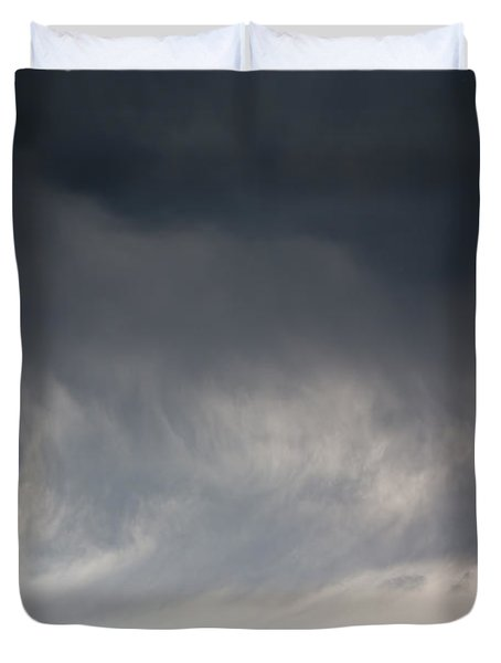 Storm On Karakul Lake Duvet Cover by Konstantin Dikovsky