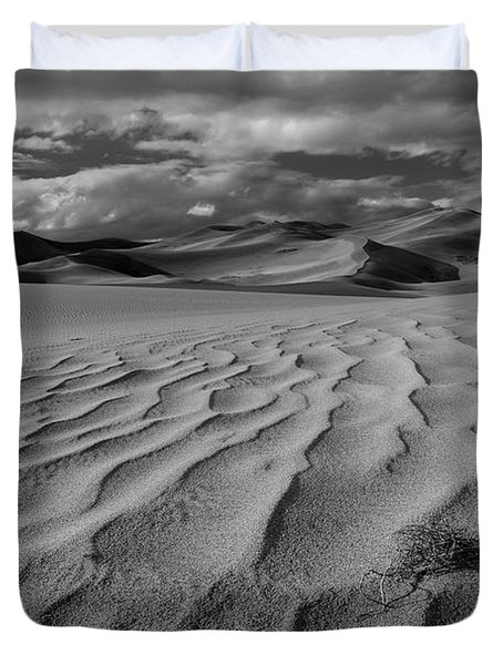 Storm Over Sand Dunes Duvet Cover