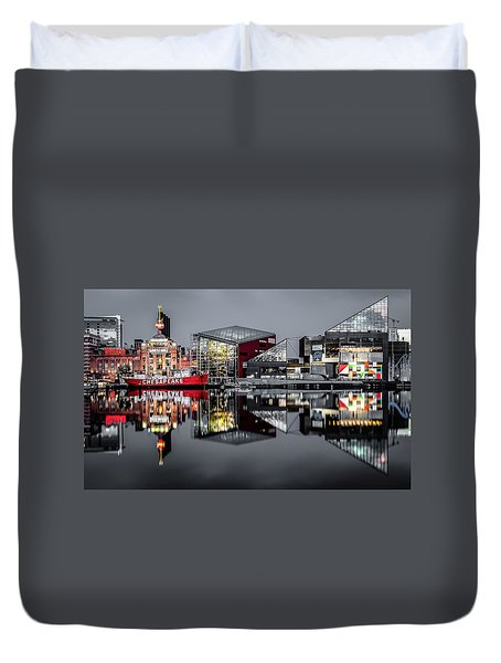 Stormy Night In Baltimore Duvet Cover