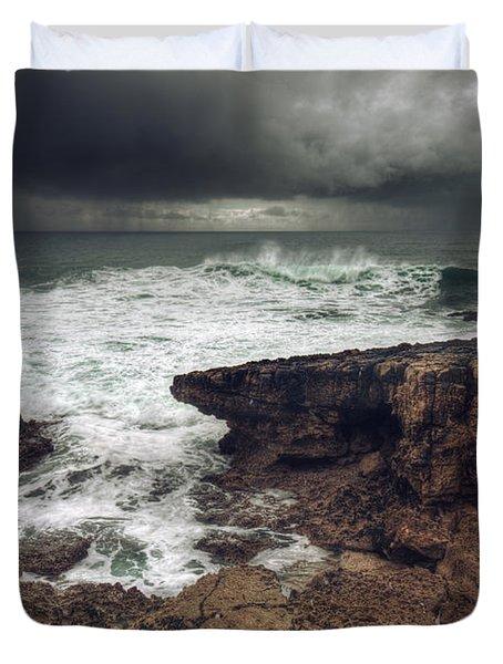 Stormy Seascape Duvet Cover