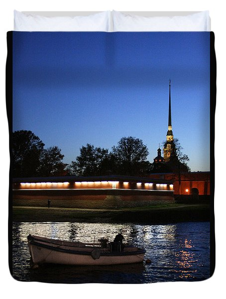 St.petersburg At Night Duvet Cover