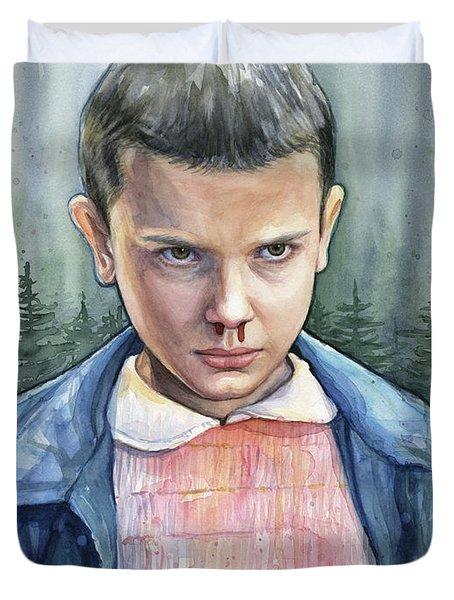 Stranger Things Eleven Portrait Duvet Cover