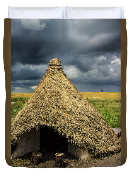 Straw Huts Duvet Cover