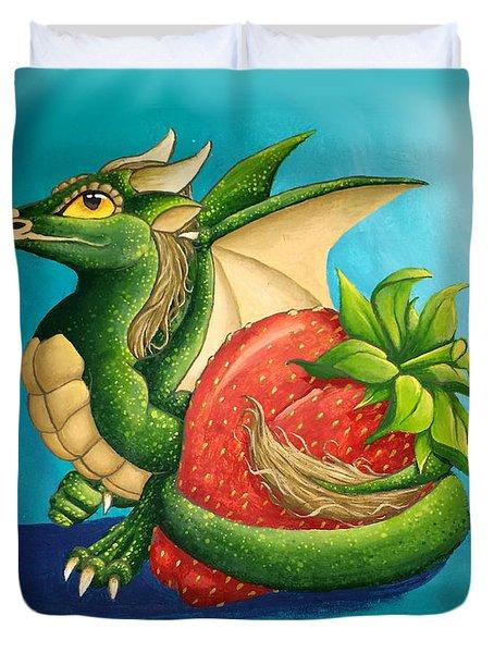 Strawberry Dragon Duvet Cover