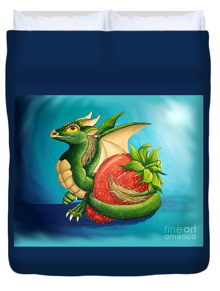 Strawberry Dragon Duvet Cover