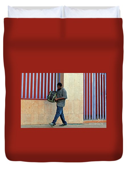 Duvet Cover featuring the photograph Stripes by Joe Jake Pratt