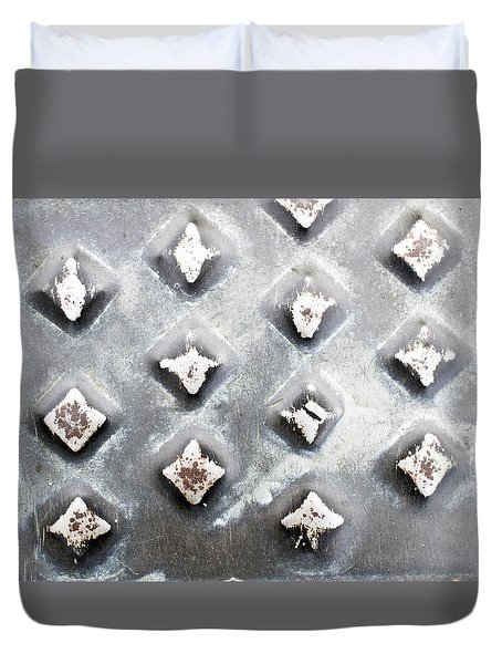 Studded Metal Duvet Cover