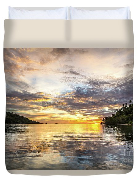 Stunning Sunset In The Togian Islands In Sulawesi Duvet Cover