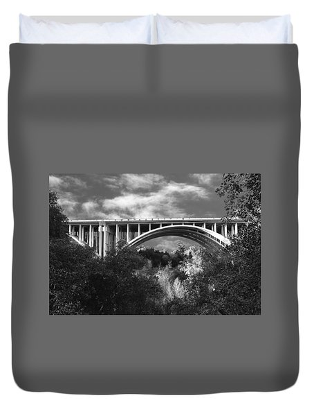 Suicide Bridge Bw Duvet Cover