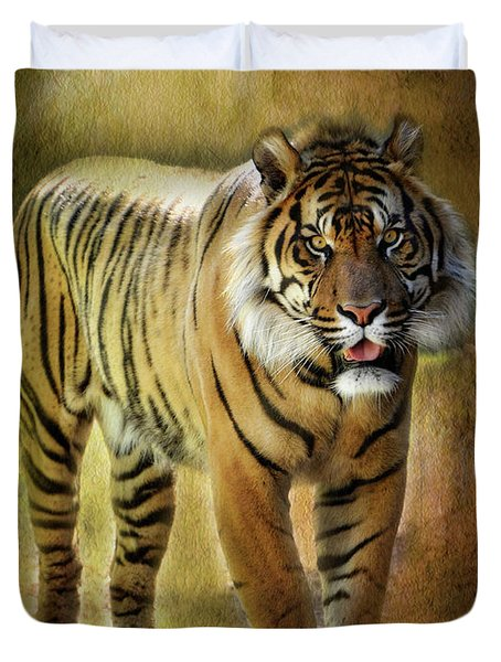 Sumatran Tiger  Duvet Cover by Saija  Lehtonen