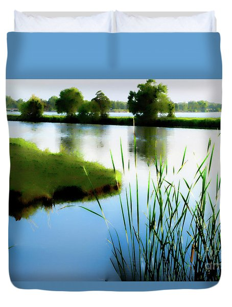 Duvet Cover featuring the mixed media Summer Dreams by Betty LaRue