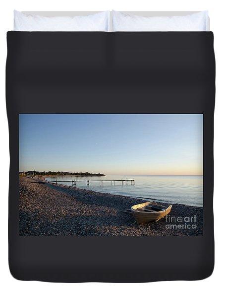 Duvet Cover featuring the photograph Summer Evening by Kennerth and Birgitta Kullman