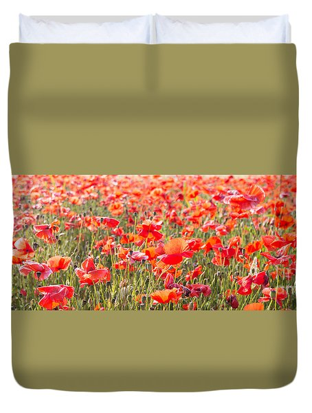 Summer Poetry Duvet Cover