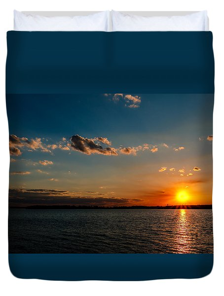 Sun Going Down Duvet Cover by Doug Long