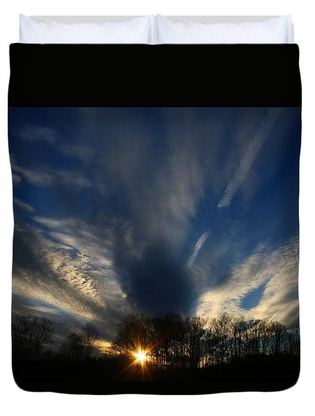 Sundown Skies Duvet Cover