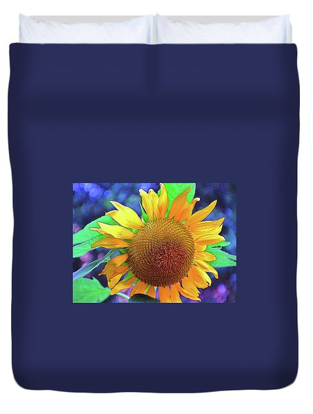 Duvet Cover featuring the photograph Sunflower by Allen Beatty