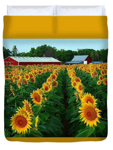 Sunflower Field #4 Duvet Cover