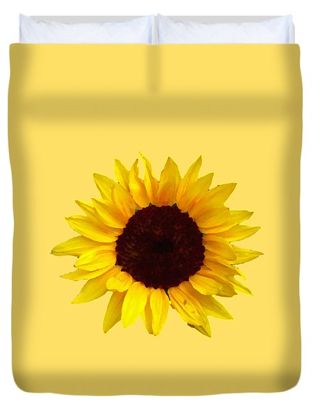 Duvet Cover featuring the photograph Sunflower by Jim Sauchyn