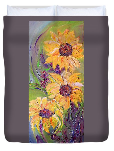 Sunflowers Duvet Cover by AmaS Art
