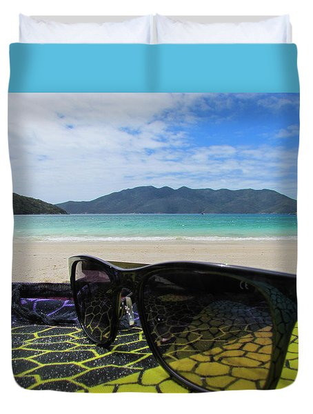 Sunglasses Duvet Cover by Cesar Vieira