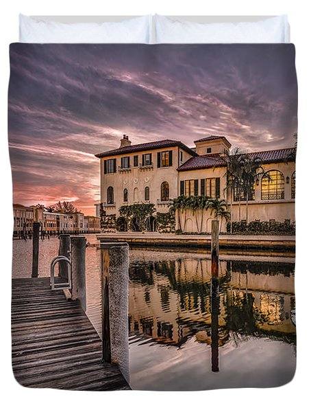 Sunrise At Naples, Florida Duvet Cover