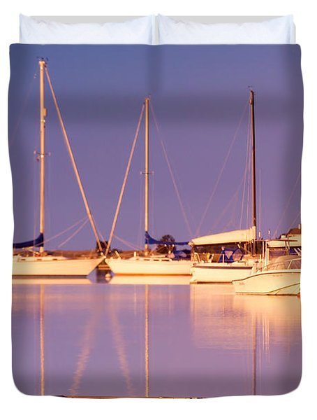 Sunrise At West Bay Osterville Cape Cod Duvet Cover by Matt Suess
