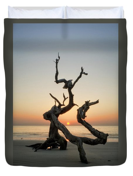 Sunrise On Driftwood Duvet Cover