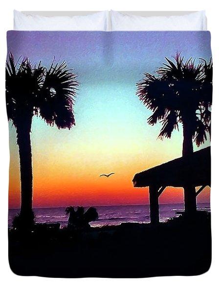Sunrise On Ormond Beach Duvet Cover