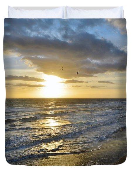 Sunrise On The Banks  Duvet Cover