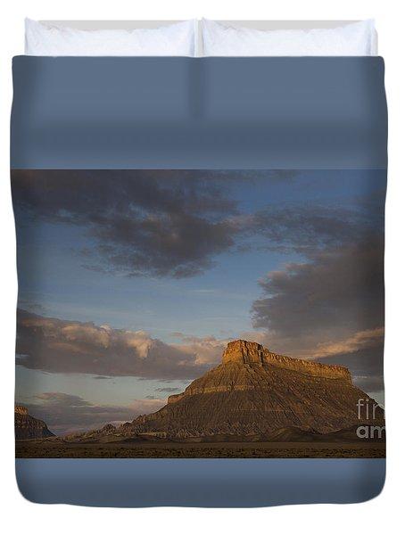 Sunrise Over Factory Butte Duvet Cover
