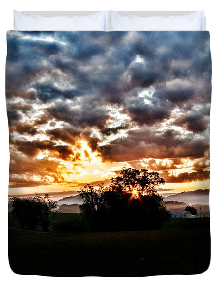 Sunrise Over Fields Duvet Cover
