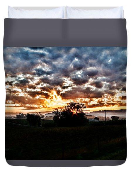 Sunrise Over Fields Duvet Cover
