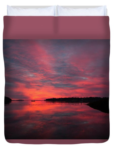 Sunrise Reflection Duvet Cover