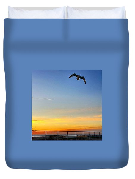 Sunrise Seagull Duvet Cover