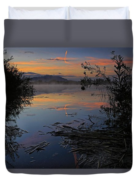 Sunrise Tranquility Duvet Cover by Sue Cullumber