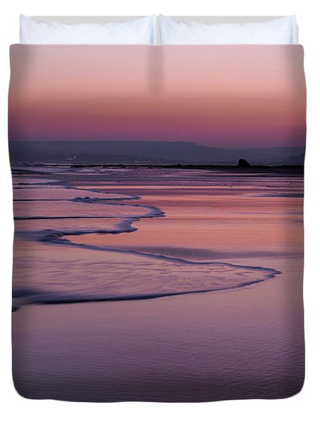 Sunset At Exmouth Duvet Cover