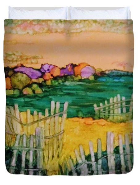 Sunset Beach Duvet Cover