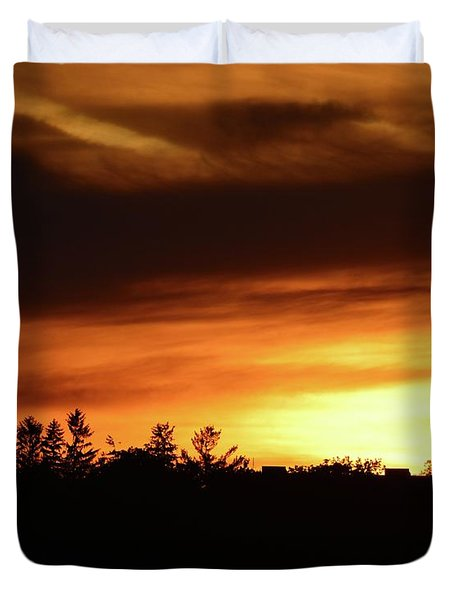 Sunset Behind The Clouds  Duvet Cover