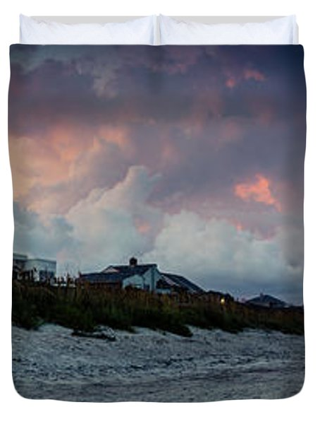 Sunset Emerald Isle Crystal Coast Duvet Cover