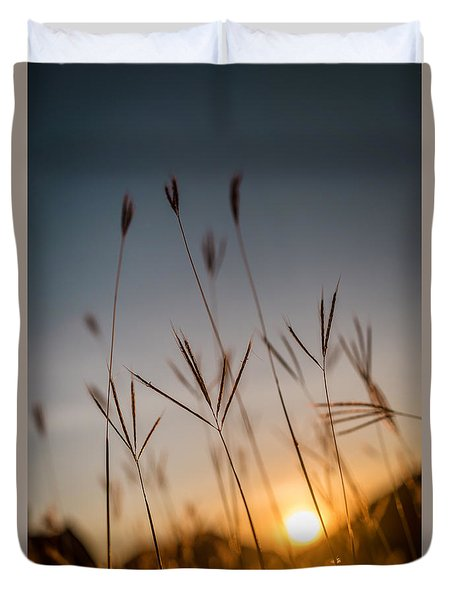 Sunset Grass Duvet Cover