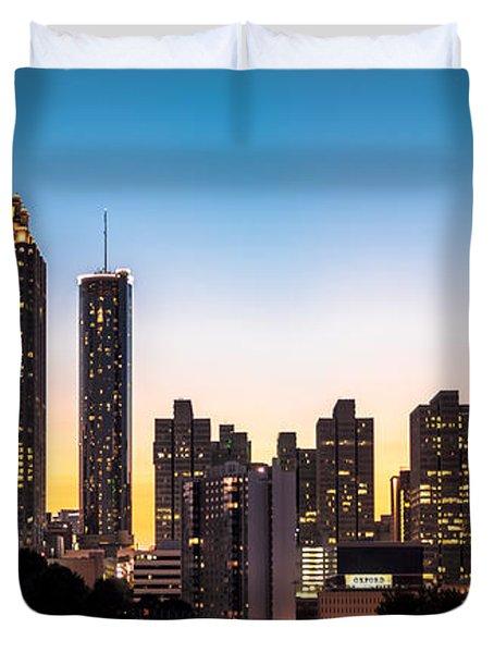 Sunset In Atlanta  Duvet Cover