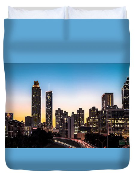 Sunset In Atlanta  Duvet Cover