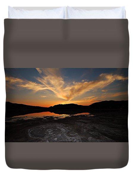 Sunset In Sardinia Duvet Cover