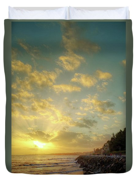 Duvet Cover featuring the photograph Sunset In The Coast by Carlos Caetano