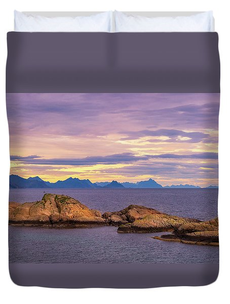 Sunset In The North Duvet Cover by Maciej Markiewicz