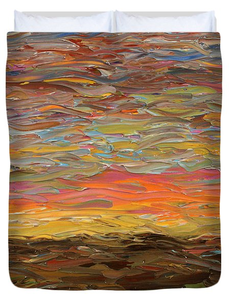 Sunset Duvet Cover by James W Johnson